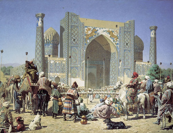 Central Asia Rally Old Samarkand painting Vasily Vereschagin