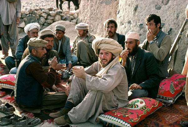 Central Asian hospitality Melmastia Steve McCurry with Mujahedeen