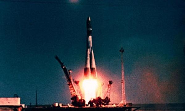Baikonur 1961 Gagarin Vostok-1 launch