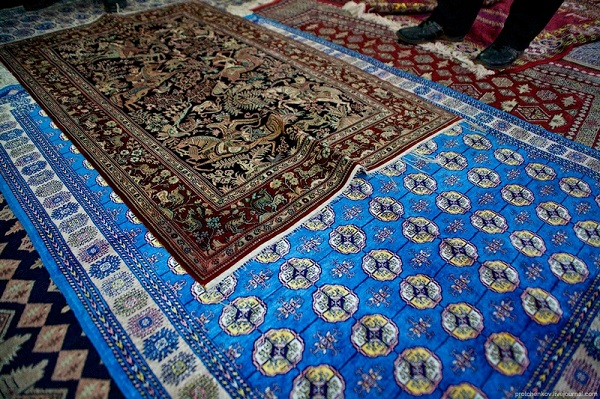Central Asian Rally Samarkand silk carpet