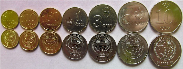 Tiyin and Som Coins. Photo Credit: DelCampe