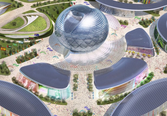 The Kazakhstan Pavilion. Photo Credit: Skyscrapercity